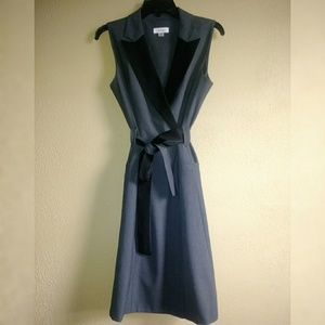 Calvin Klein Gray Belted Business Dress 8